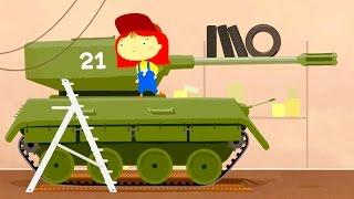 Doktor Mac Wheelie - Aus einem Panzer wird ein Traktor - Cartoon für Kinder