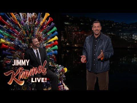 Adam Sandler Surprises Jimmy Kimmel on His 50th Birthday