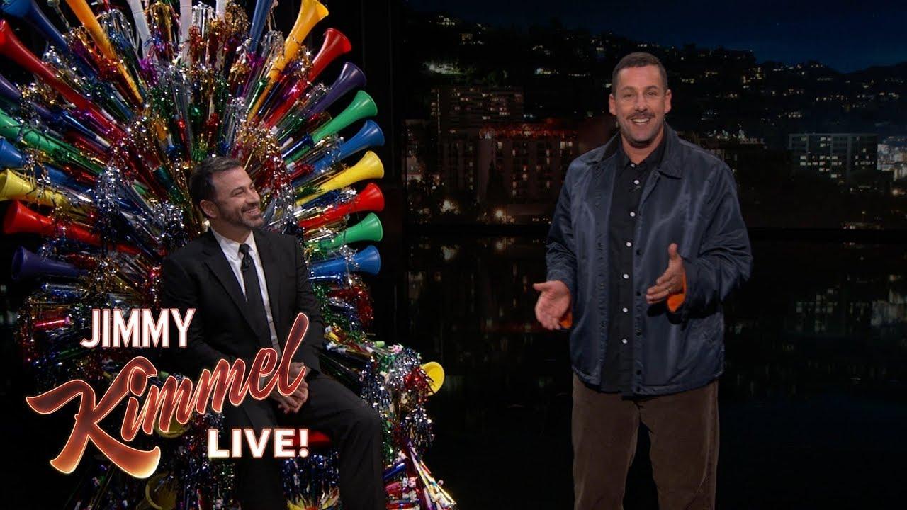 Adam Sandler Surprises Jimmy Kimmel on His 50th Birthday - Clip.FAIL