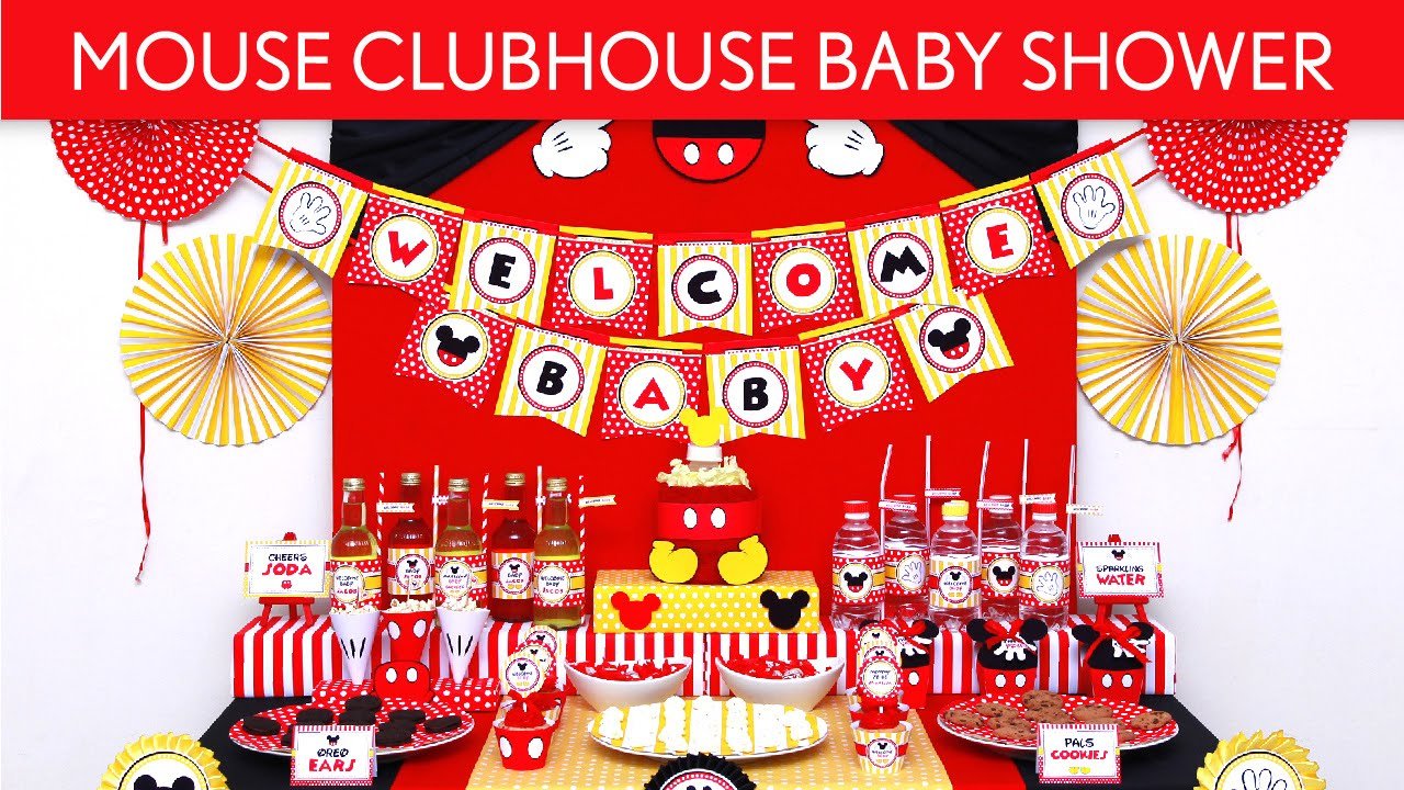 Mouse ClubHouse Baby Shower Party Ideas // Mouse ClubHouse   S51   YouTube