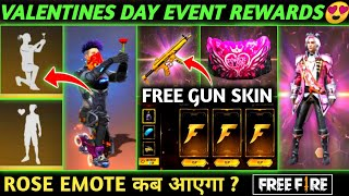 UPCOMING VALENTINES DAY EVENT REWARDS | FREE FIRE NEW EVENT | ROSE EMOTE, NEXT DIAMOND ROYAL BUNDLE