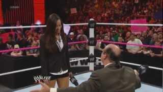 AJ Lee slaps Paul Heyman after he proposes to AJ Lee Raw, 24 Sept, 2012