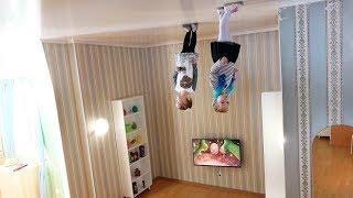 Дом вверх Дном Алина и Юляшка играют под песню для детей Развлечения Entertaiment for kids