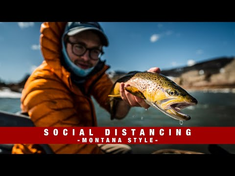 Social Distancing Montana Style | Fly Fishing The Yellowstone River | Livingston, MT