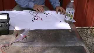 Easy scienc project How to make a battery from pennys.