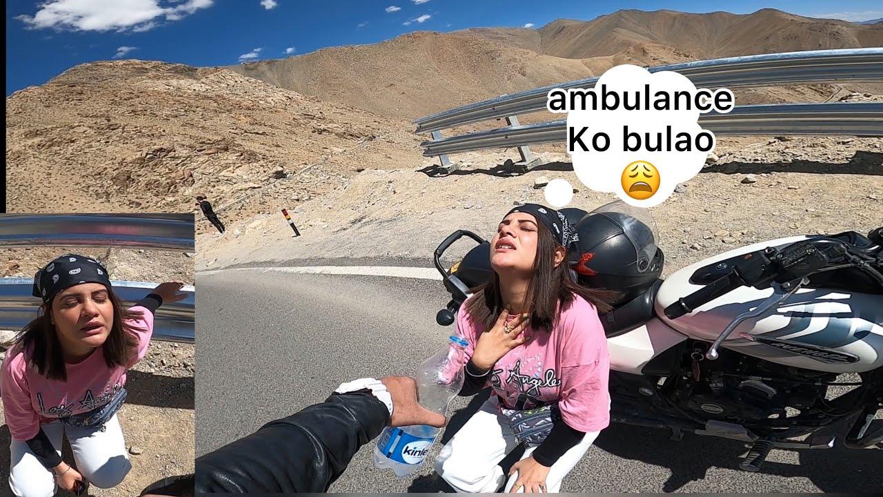 South Delhi Girl ko hue saas ki problem 😟😟Girl Safety in Ladakh