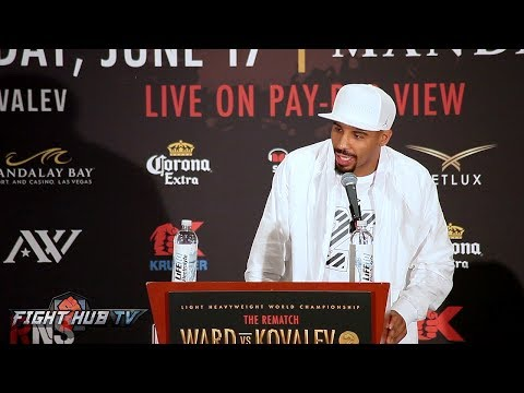 The OFFICIAL Andre Ward vs. Sergey Kovalev 2 COMPLETE FINAL PRESS CONFERENCE VIDEO