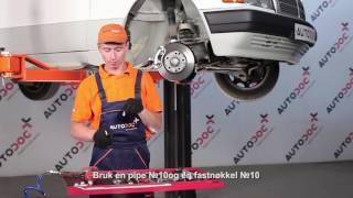Montering Styrekule MERCEDES-BENZ 190: videoopplæring