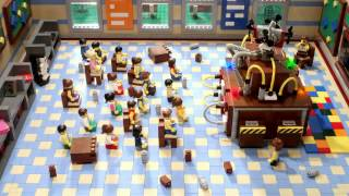 lego build your own snow day stop motion