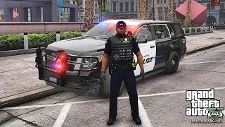 GTA 5 MODS LSPDFR 911 - CITY PATROL!!! (GTA 5 REAL LIFE PC MOD) BANK ROBBERY