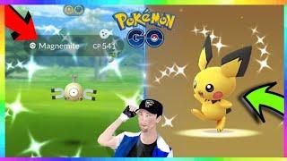 93IV SHINY PICHU HATCHED + SHINY MAGNEMITE CAUGHT in Pokemon Go!