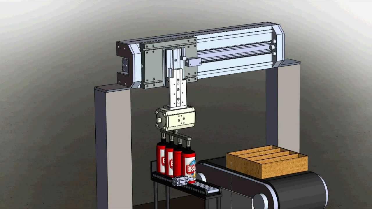 Projeto De Pneum U00e1tica  Maquina Para Embalar Latas