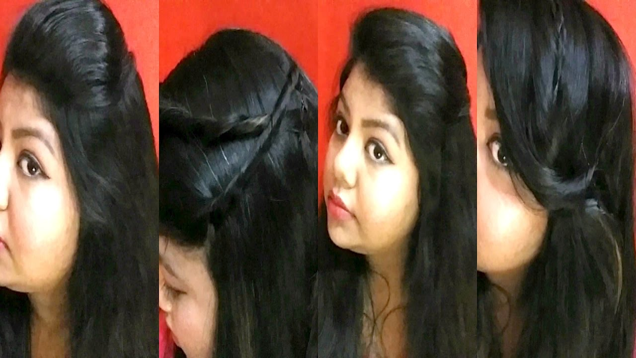 4 Easy And Simple Hairstyle For Beginners, School , College ,Work | Easy  Hairstyle In Hindi   YouTube