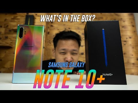 Samsung Galaxy Note 10+ Unboxing & Hands-on (Aura Glow)