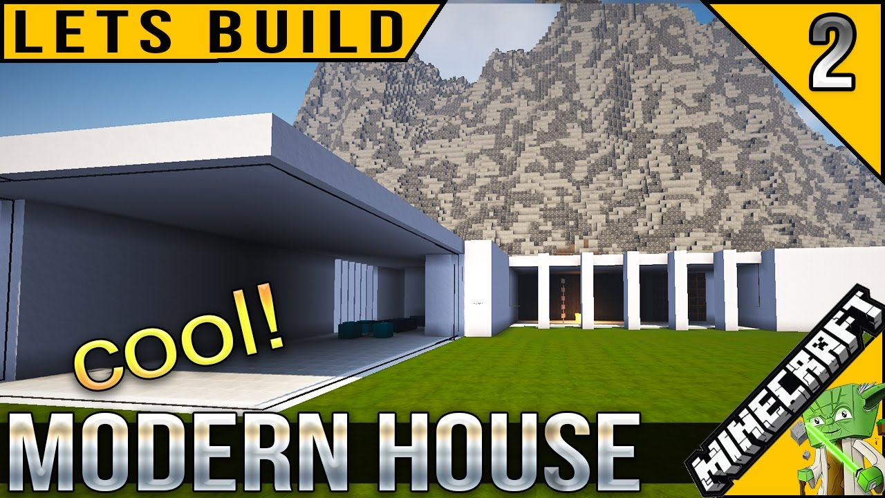 Minecraft Cool Modern House Lets Build E02 YouTube
