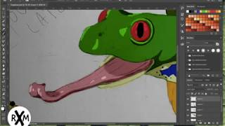 Digital Painting: Hunting Frog