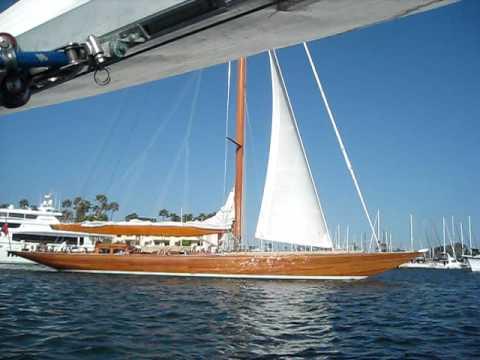 Wooden Sailboat Marina Del Rey 2 YouTube