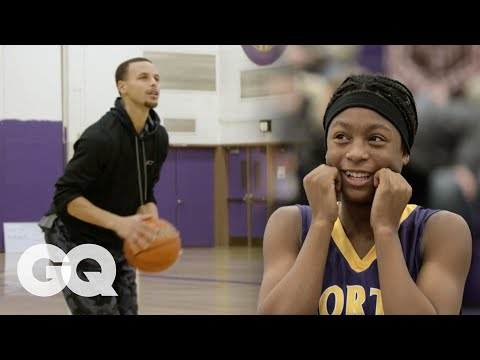 Steph Curry Plays HORSE with Unsuspecting High Schoolers | GQ Sports