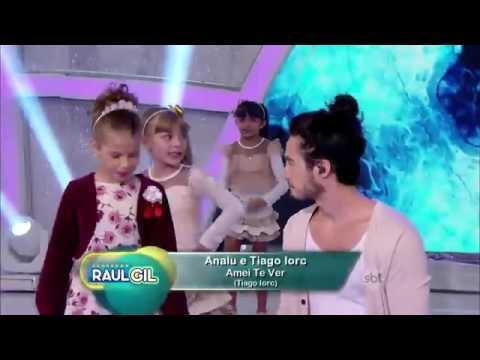 Programa Raul Gil - Tiago Iorc e Analu Cantam ''Amei Te Ver''