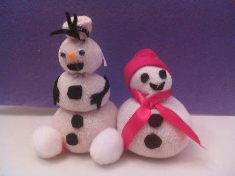 Como hacer un muñeco de nieve y olaf