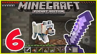 Minecraft PE - Gameplay Part #6 - Pig's Birthday - Mining for ores - Let's Play and Commentary