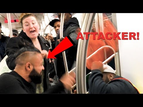 Inconsiderate Man Gets Beaten On The Subway (NYC)
