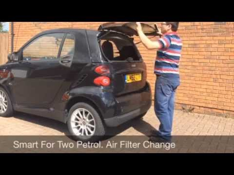 Smart Car Air Filter Change