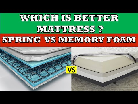 Memory Foam vs Spring Mattress | Which is better ? | Full Comparison