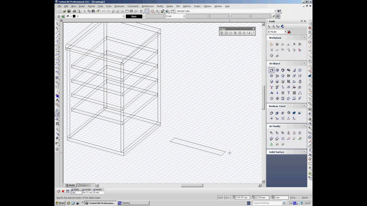 Charmant TurboCAD Drawing A Kitchen Cabinet In 3D   YouTube