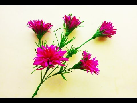 How To Make Origami Easy Grass Flower With Paper | DIY Craft Ideas: