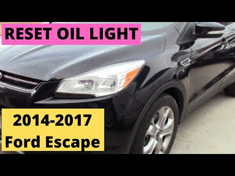 How To Reset Oil Light 2017 Ford Escape Diy