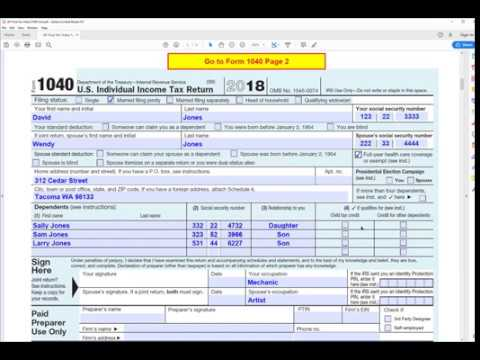 example 1040 form filled out  How to fill out IRS form 16 for 16