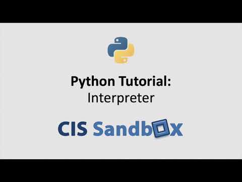 Python Tutorial: Interpreter