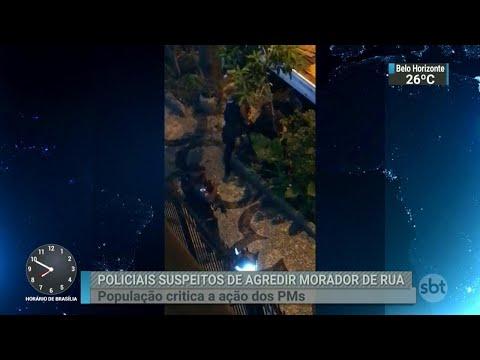 Policiais militares que agrediram morador de rua serão investigados | SBT Brasil (03/04/18)