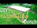 How to Make Old Wood Door Table Desk Bench