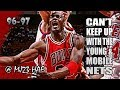 Michael Jordan Highlights vs Nets (1997.03.14) - 36pts, Can't Keep Up with Young NETS!