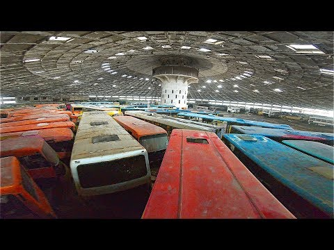 """Found HUNDREDS of vehicles in abandoned """"Soviet-Spaceship"""""""