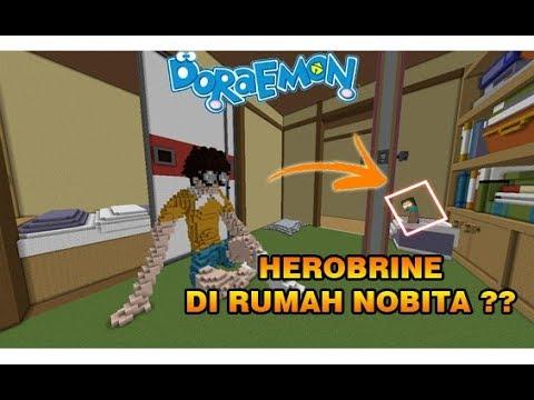 "HEROBRINE NYATA DIRUMAH NOBITA ""DORAEMON"" !! – MINECRAFT INDONESIA !!"