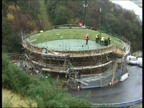 Sedum Green Roof Installation At The Eden Project By