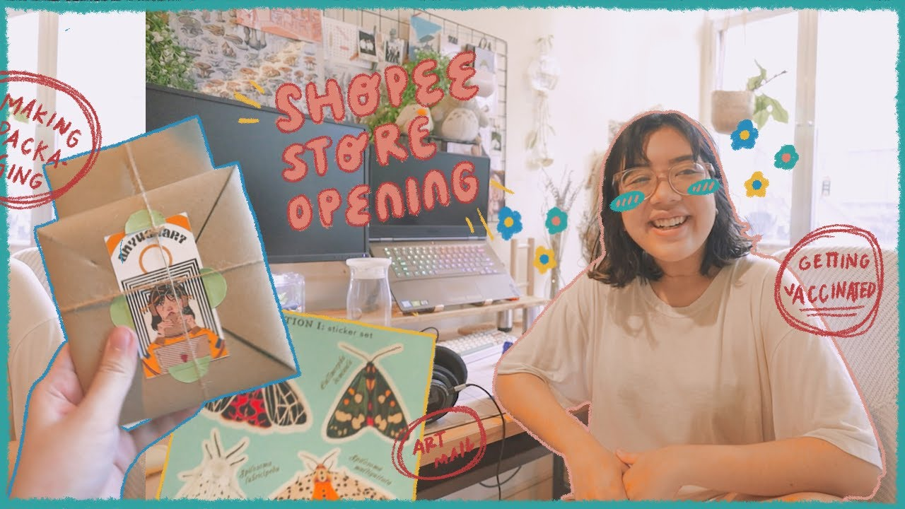 ✿ studio(ish) vlog ✿ shopee store opening, packing orders & getting vaccinated