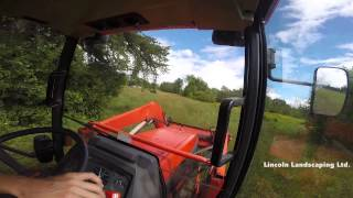 Mowing Tall Fields With A Kubota Tractor VLOG A JOB#2
