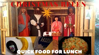 VLOGMAS DAY5 | CHRISTMAS BELEN NEAR OUR HOME AT QUICK FOOD FOR LUNCH