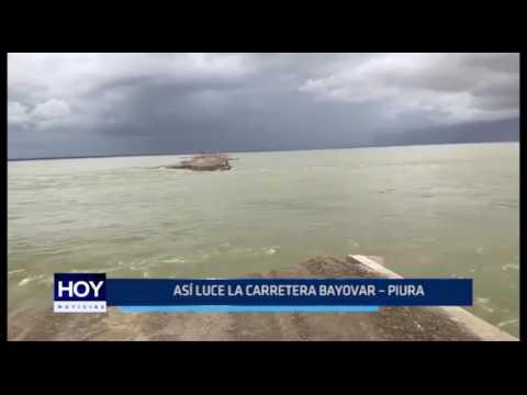 Piura: Así luce la carretera Bayóvar - Piura