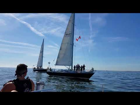 NY Maritime and Army Offshore Sailing Teams sing the national anthem