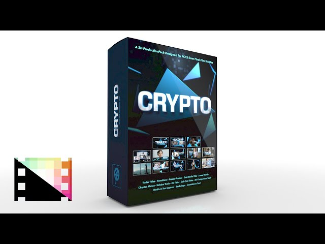 Crypto - A Professional 3D Production Package for FCPX - Pixel Film Studios