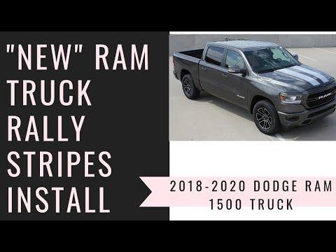 NEW! 2019 Dodge Ram 1500 Truck Stripes RAM RALLY Install Tips