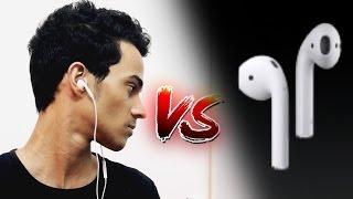 مقارنة سماعات أبل اللاسلكية ضد ابو سلك | AirPods vs EarPods