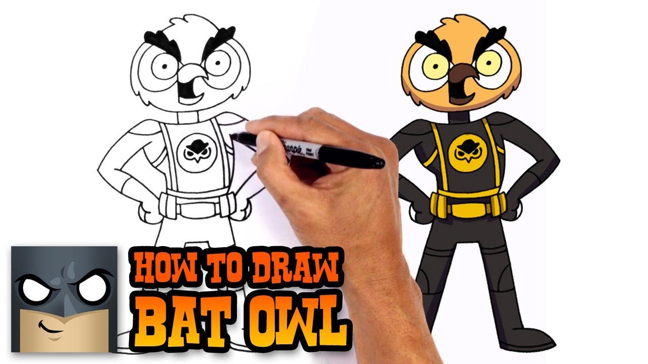 how to draw bat owl vanossgaming youtube