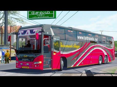 TamilNadu Village Road | Scania Bus Driving On Bali Tamilnadu Version | Ets2 Gameplay