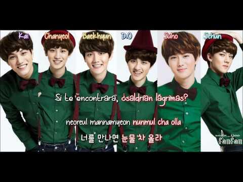 EXO - First Snow (첫 눈) Korean Version [ Sub Español /Romanizacion/Hangul] (Color Coded)
